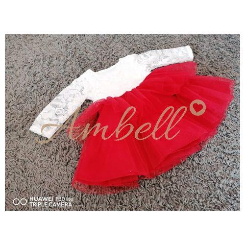 Ambell fehér csipkés alkalmi ruha,két fodros szoknyarésszel