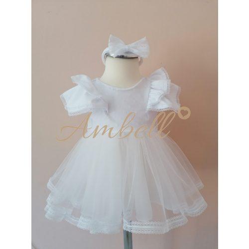 Ambell fehér csipke szalagos ruha