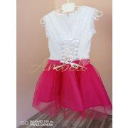 Ambell Fehér/pink alkalmi ruha