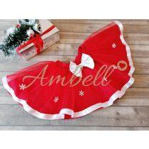 Ambell piros hópelyhes ,fehér szalagos szoknya